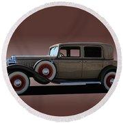 1932 Classic Buick 4 Door Sedan Round Beach Towel
