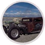 1932 Chevrolet Rat Rod Round Beach Towel