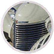 1940 Cadillac 60 Special Sedan Grille Round Beach Towel
