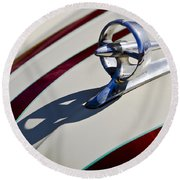 1949 Custom Buick Hood Ornament Round Beach Towel