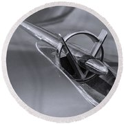 1953 Buick Super Hood Ornament Round Beach Towel
