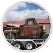 1953 Ford F-100 Truck Round Beach Towel