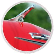 1956 Chevrolet Bel Air Round Beach Towel