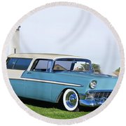 1956 Chevrolet Bel Air Nomad Wagon Round Beach Towel