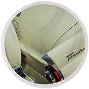 1956 Ford Thunderbird Spare Tire Round Beach Towel
