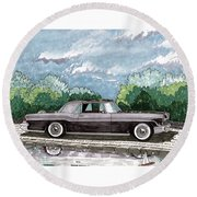 1956  Lincoln Continental Mk II Round Beach Towel