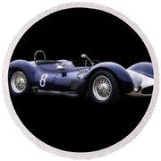 1960 Maserati T61 Racecar Round Beach Towel