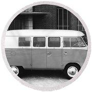 1960 Volkswagon Microbus Round Beach Towel
