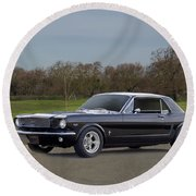 1966 Ford Mustang Coupe I Round Beach Towel