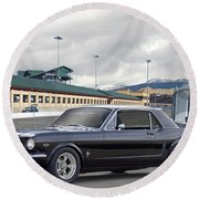 1966 Ford Mustang Coupe II Round Beach Towel