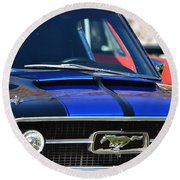 1967 Mustang Fastback Round Beach Towel