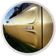 1968 Dodge Charger Hemi Round Beach Towel