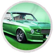 1968 Ford Mustang Fastback I Round Beach Towel