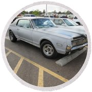 1968 Mercury Cougar Xr7 Round Beach Towel