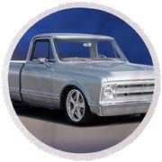 1969 Chevrolet C10 Pickup 'studio' 1 Round Beach Towel