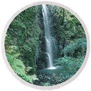 1b6351 Diamond A Waterfall Round Beach Towel