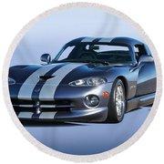 2000 Dodge Viper Vs1 Coupe Round Beach Towel