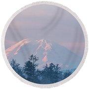 2018_3_17  Sunrise Mt. Rainier-6233  Round Beach Towel