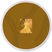 41147 Dante Gabriel Rossetti Round Beach Towel