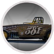 581 Bonneville Race Car Round Beach Towel