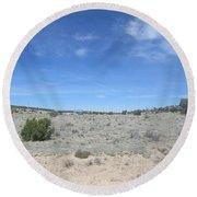 A Concho Landscape Round Beach Towel