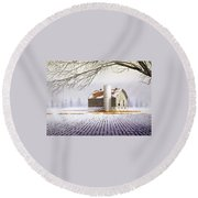 A Far Distant Feeling Round Beach Towel
