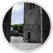 A Gothic View Round Beach Towel