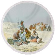 A Kirghiz Gathering Round Beach Towel