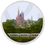 A Land Of Magic Round Beach Towel