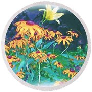 A Lily In The Field Round Beach Towel