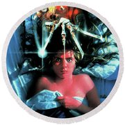 A Nightmare On Elm Street 1984 Round Beach Towel