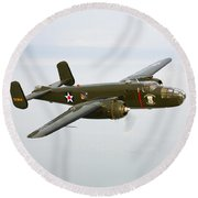 A North American B-25 Mitchell Round Beach Towel