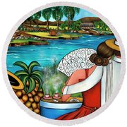 A Place To Remember Round Beach Towel