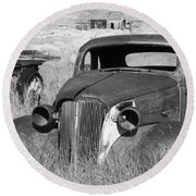 A Ride To The Past Round Beach Towel
