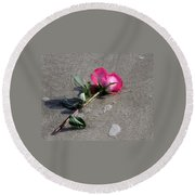 A Rose For Julie Round Beach Towel