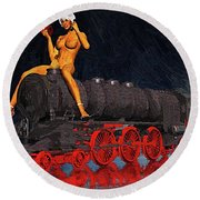 A Surrealist Lady Chatterley Round Beach Towel
