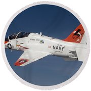 A T-45c Goshawk Training Aircraft Round Beach Towel