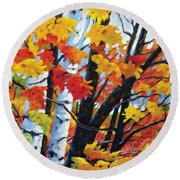 A Touch Of Canada Round Beach Towel