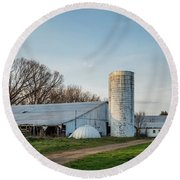 Abandoned Countryside Farm In The Afternoon Round Beach Towel