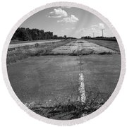 Abandoned Route 66 Round Beach Towel
