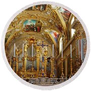Abbey Of Montecassino Altar Round Beach Towel