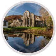 Abbey Reflection Round Beach Towel