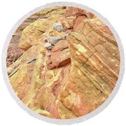 Above Wash 3 In Valley Of Fire Round Beach Towel