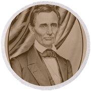 Abraham Lincoln Circa 1860  Round Beach Towel