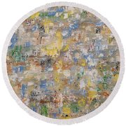 Abstract 189 Round Beach Towel