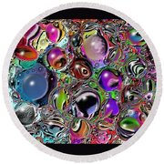 Abstract 62316.5 Round Beach Towel