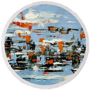 Abstract Art Project #25 Round Beach Towel