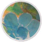 Abstract Close Up 10 Round Beach Towel