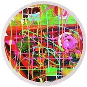 Abstract Colorful Round Beach Towel