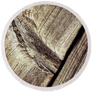 Abstract Detail Of A Wooden Old Board Round Beach Towel